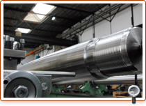 Shafts up to 16 m length with cone and thread