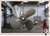 Repair of a fixed pitch propeller